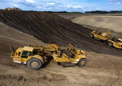 Tractor Scrapers At Inland Aggregate Pits